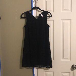 Black dress or beige dress
